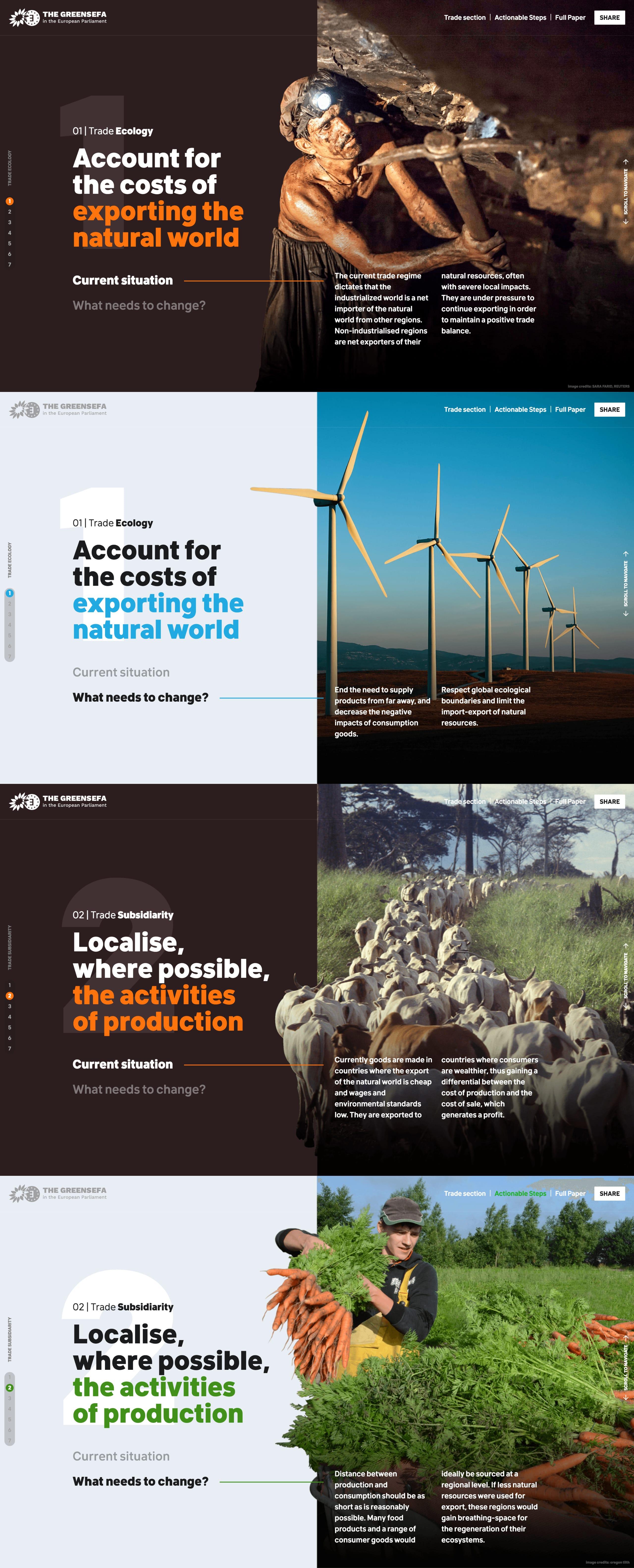 Greens / EFA Trade Paper Website Screenshot