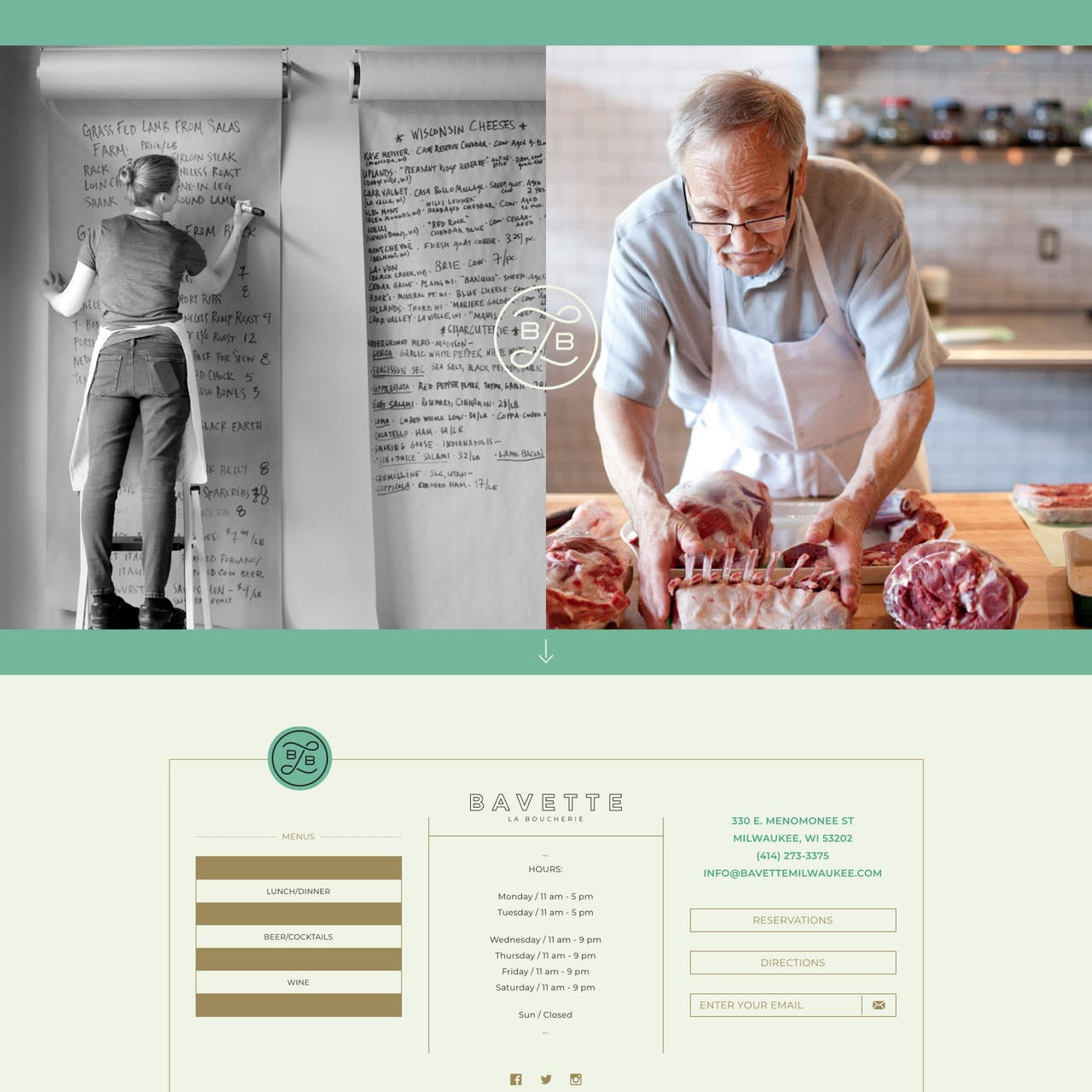 Bavette La Boucherie Website Screenshot