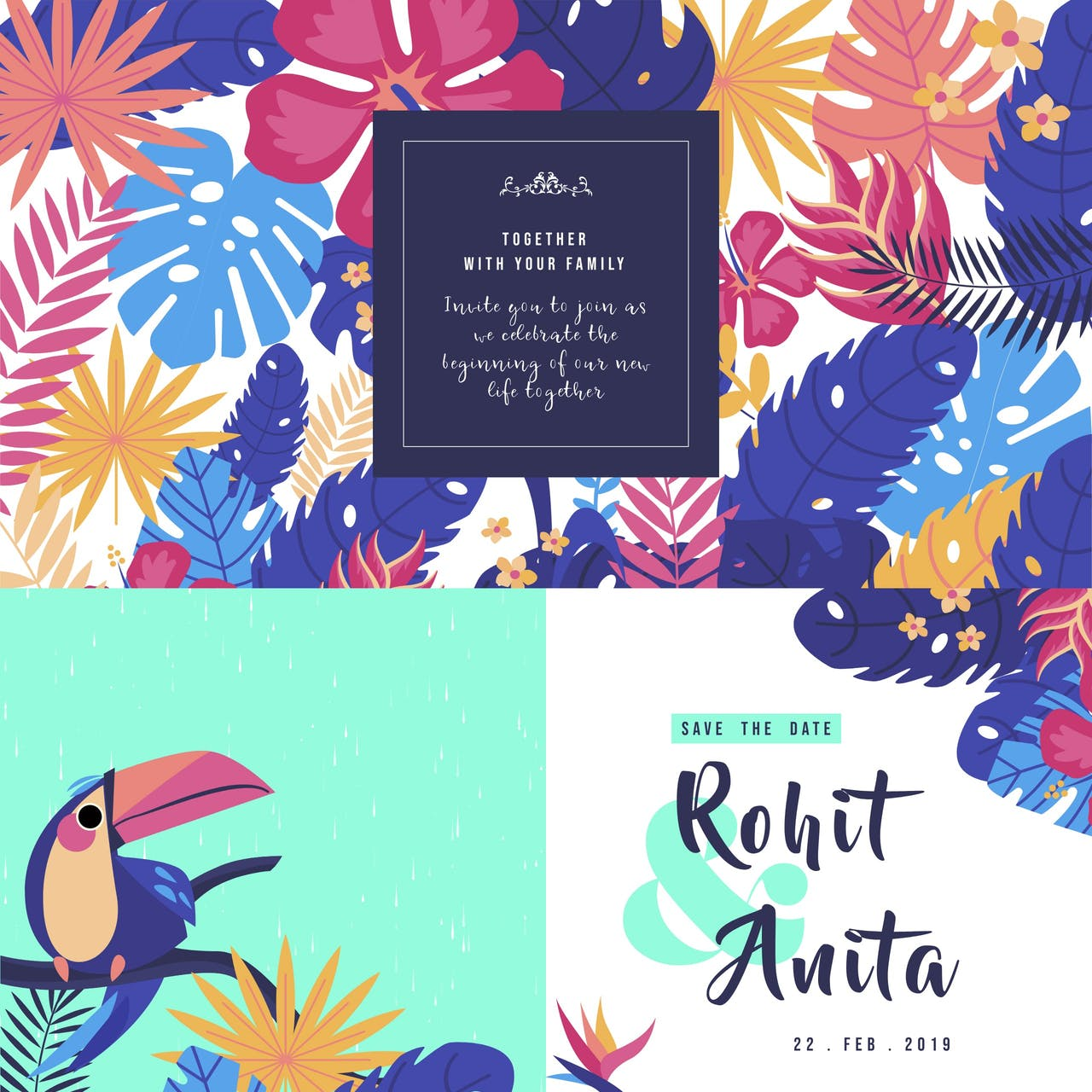 Rohit & Anita – Save The Date Website Screenshot