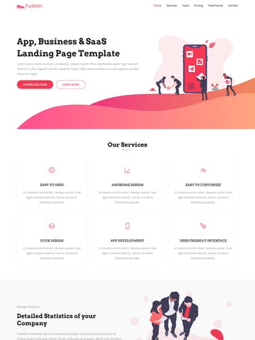 One Page Download Templates
