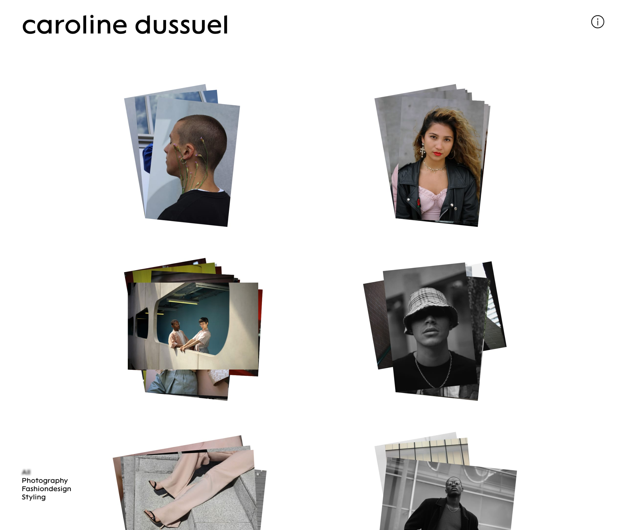 Caroline Dussuel Website Screenshot