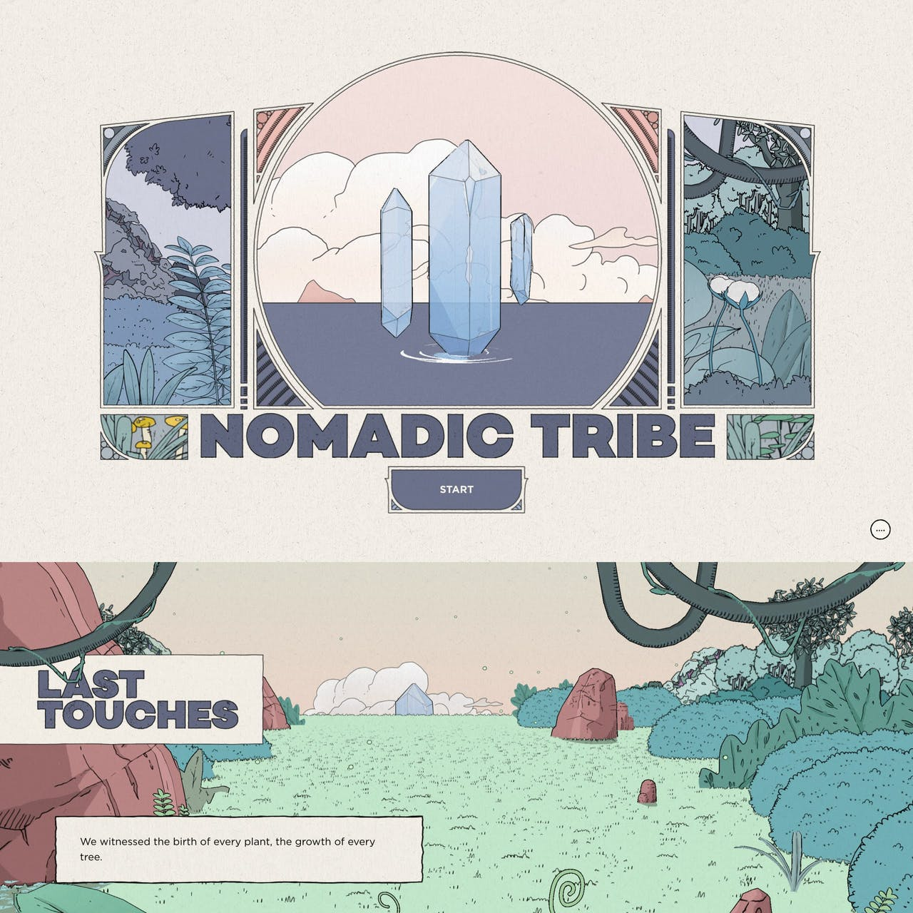 Nomadic Tribe Website Screenshot