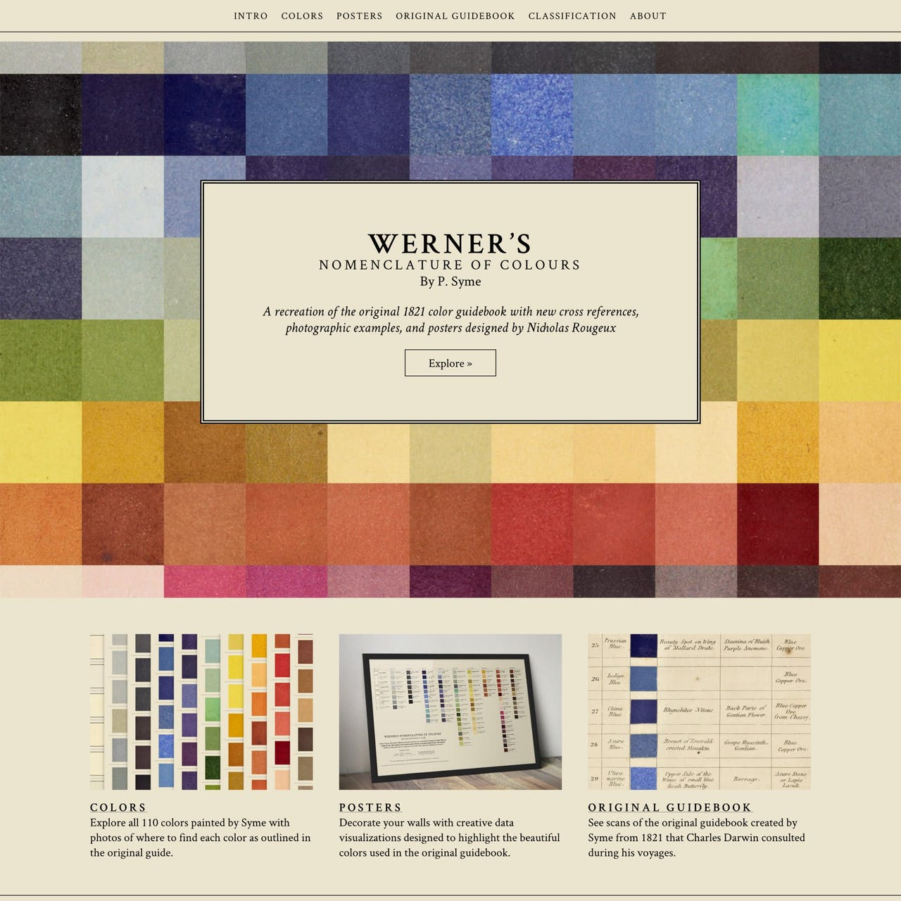 Werner's Nomenclature of Colours Website Screenshot