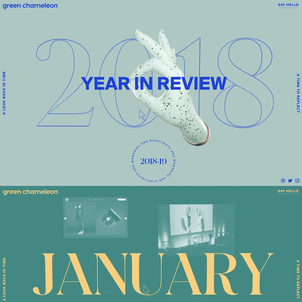 Green Chameleon 2018 Year in Review Website Screenshot