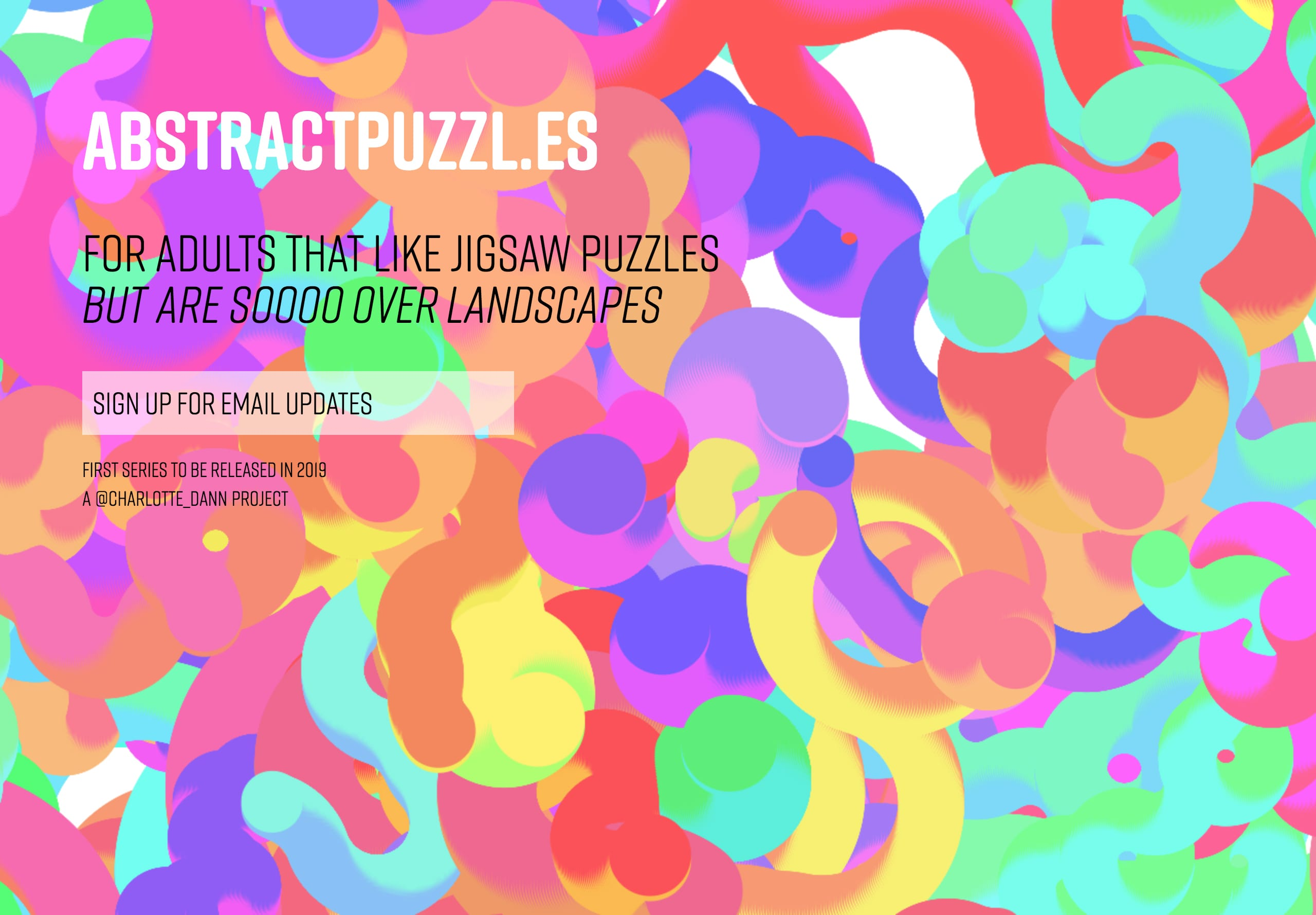 Abstract Puzzles Website Screenshot