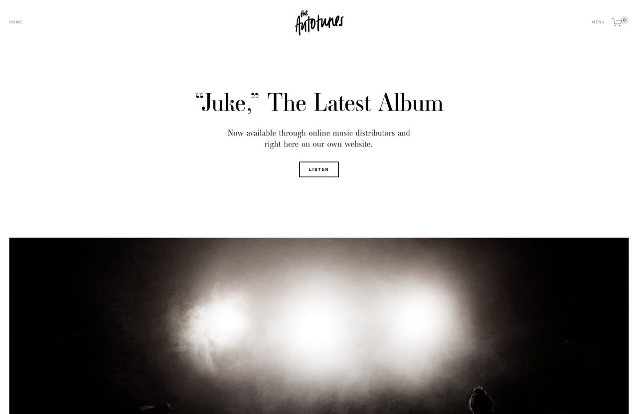 Squarespace Juke Template Screenshot