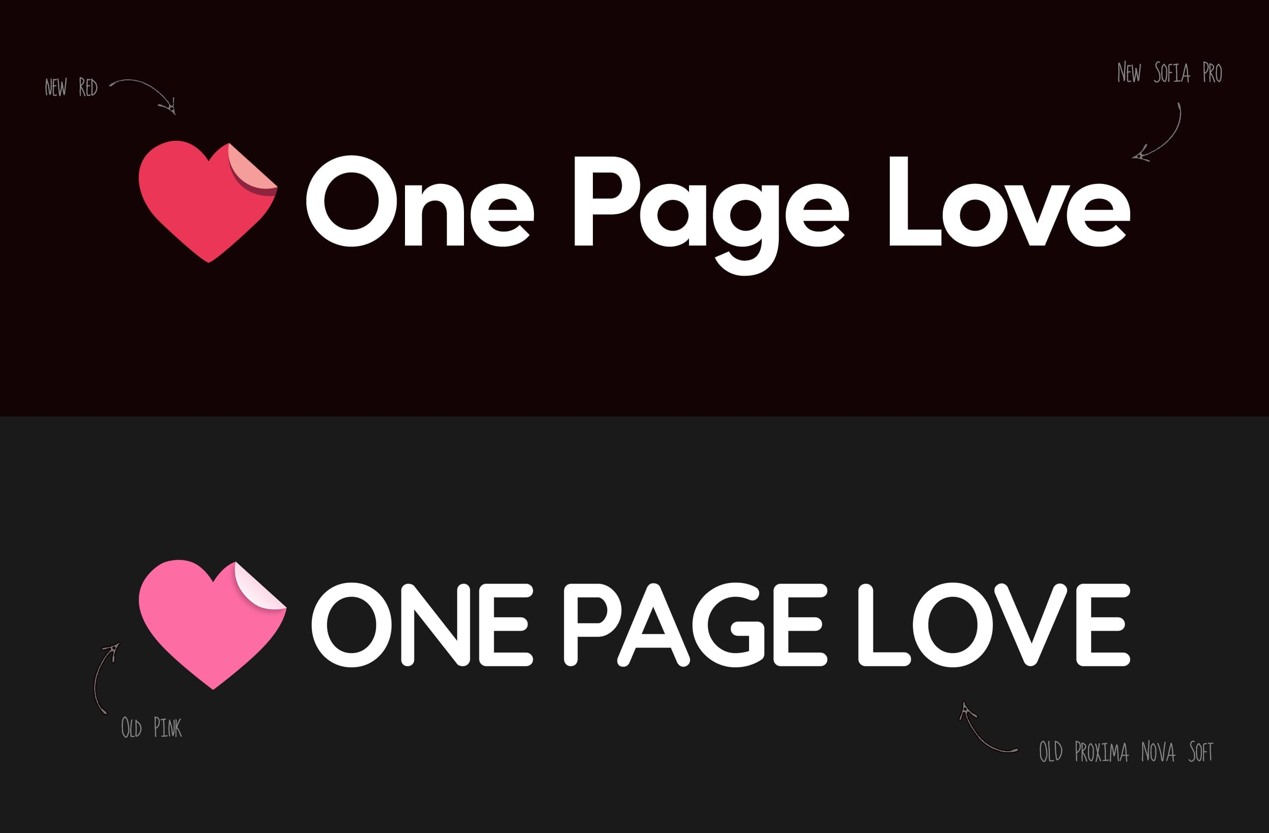 New One Page Love logo
