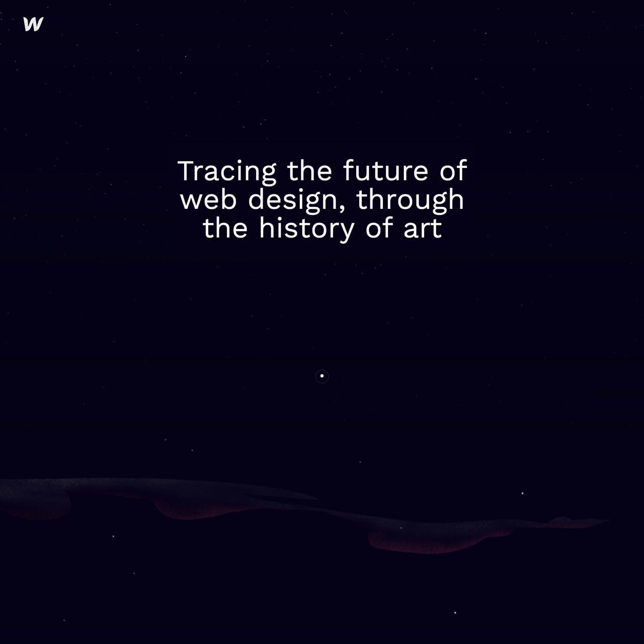 Web design & art history Website Screenshot