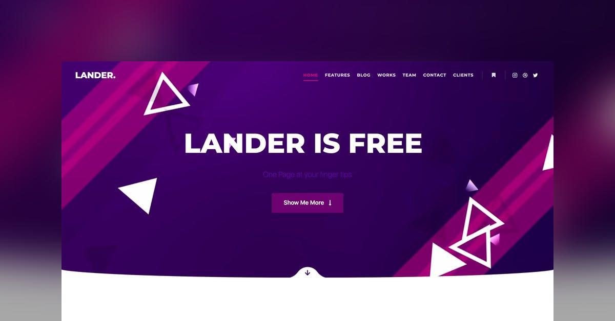 Lander - Free WordPress Theme Review and Demo