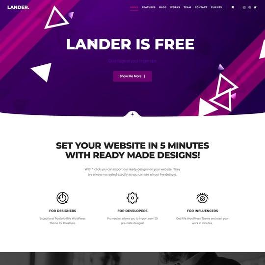 Lander Thumbnail Preview
