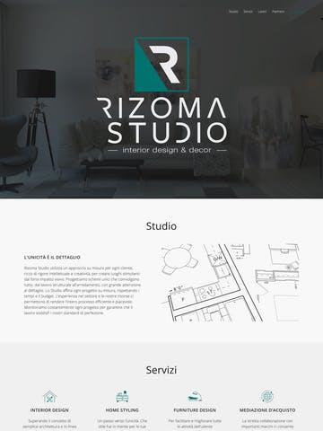 Interior Design One Page Websites
