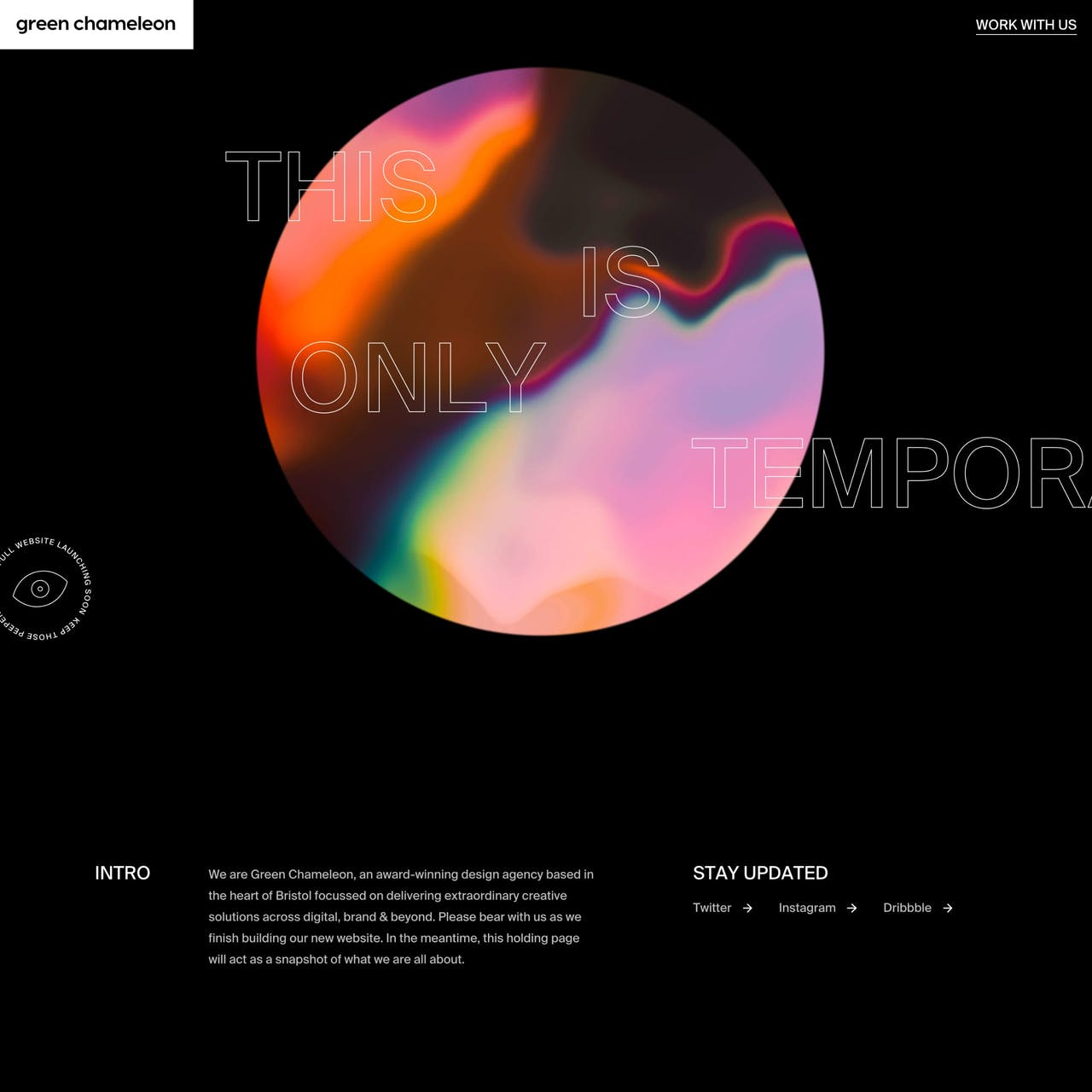 Temporary Measures Website Screenshot