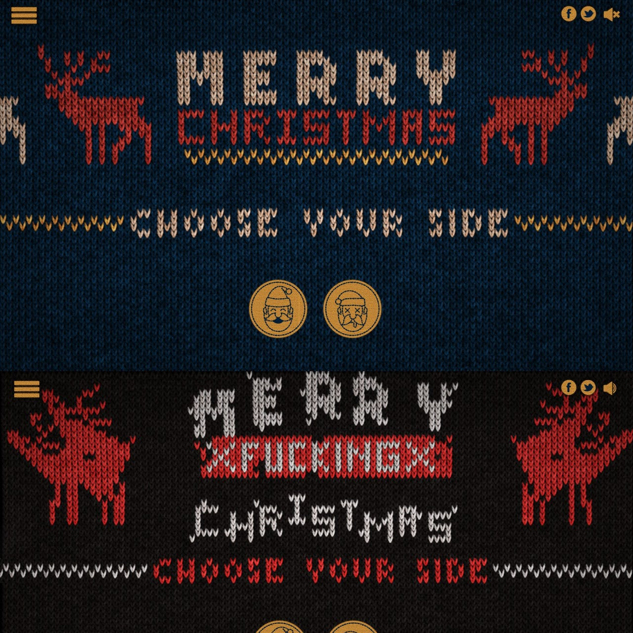 Ugly Christmas Sweater Generator Website Screenshot