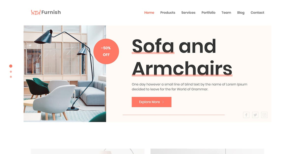 E-commerce One Page Templates