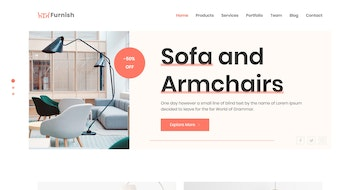 Furnish One Page HTML Template