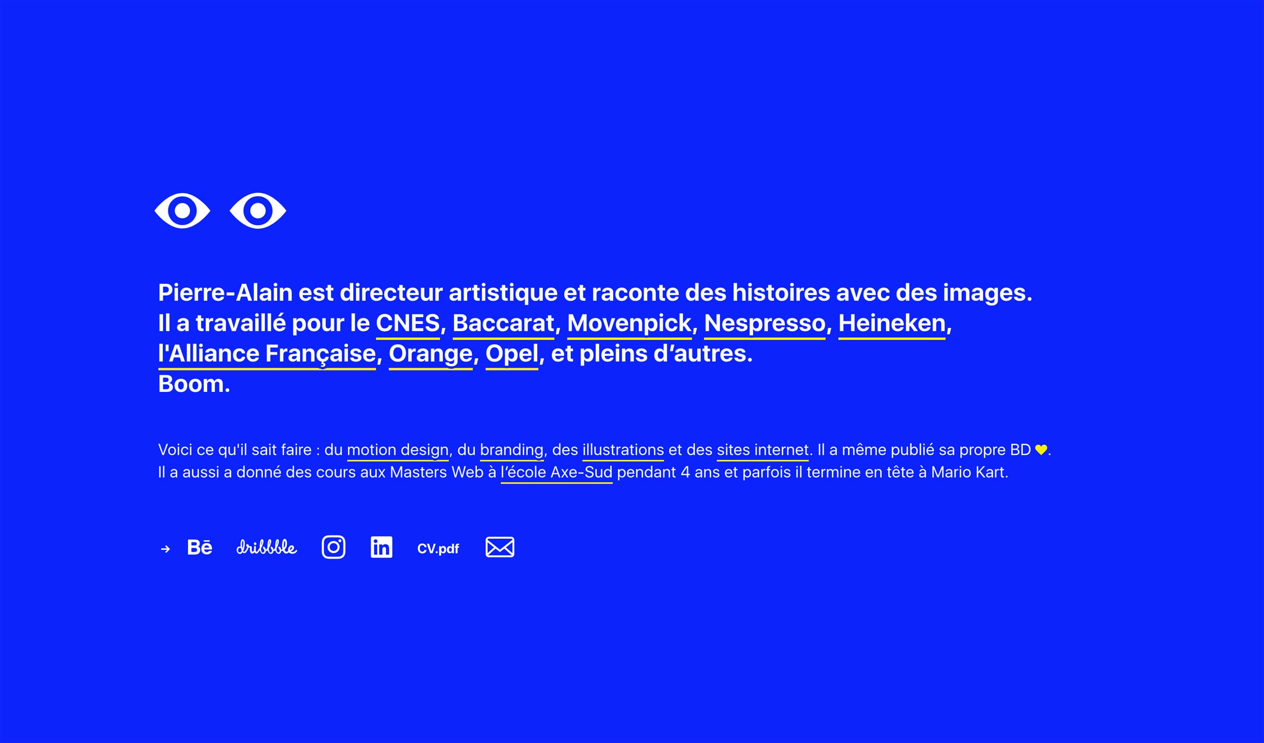 Pique les Yeux Website Screenshot