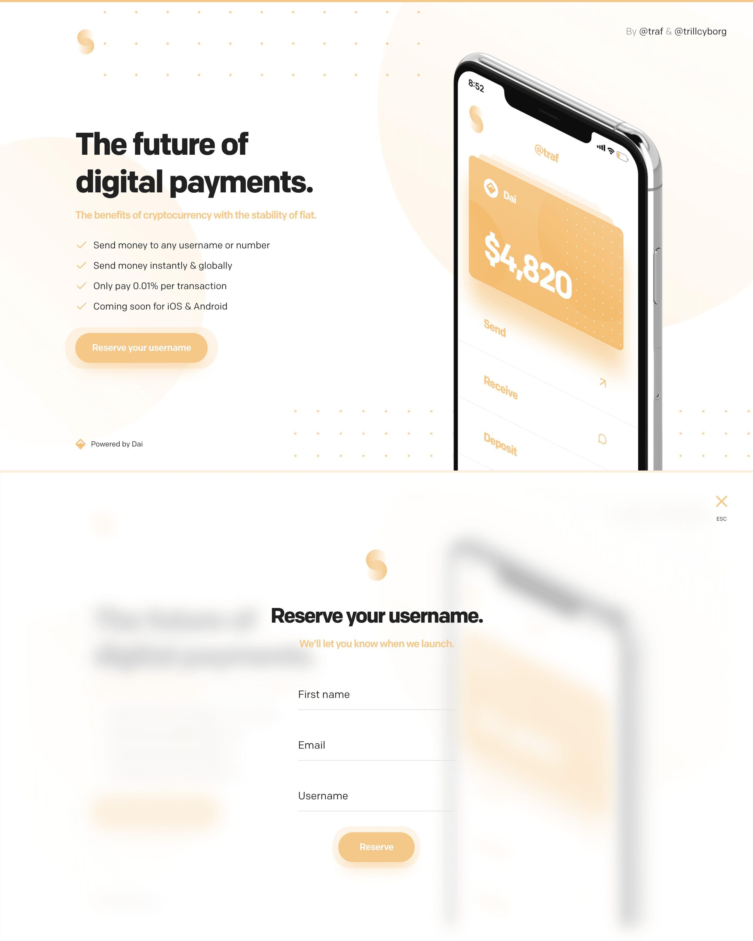 Swish Website Screenshot