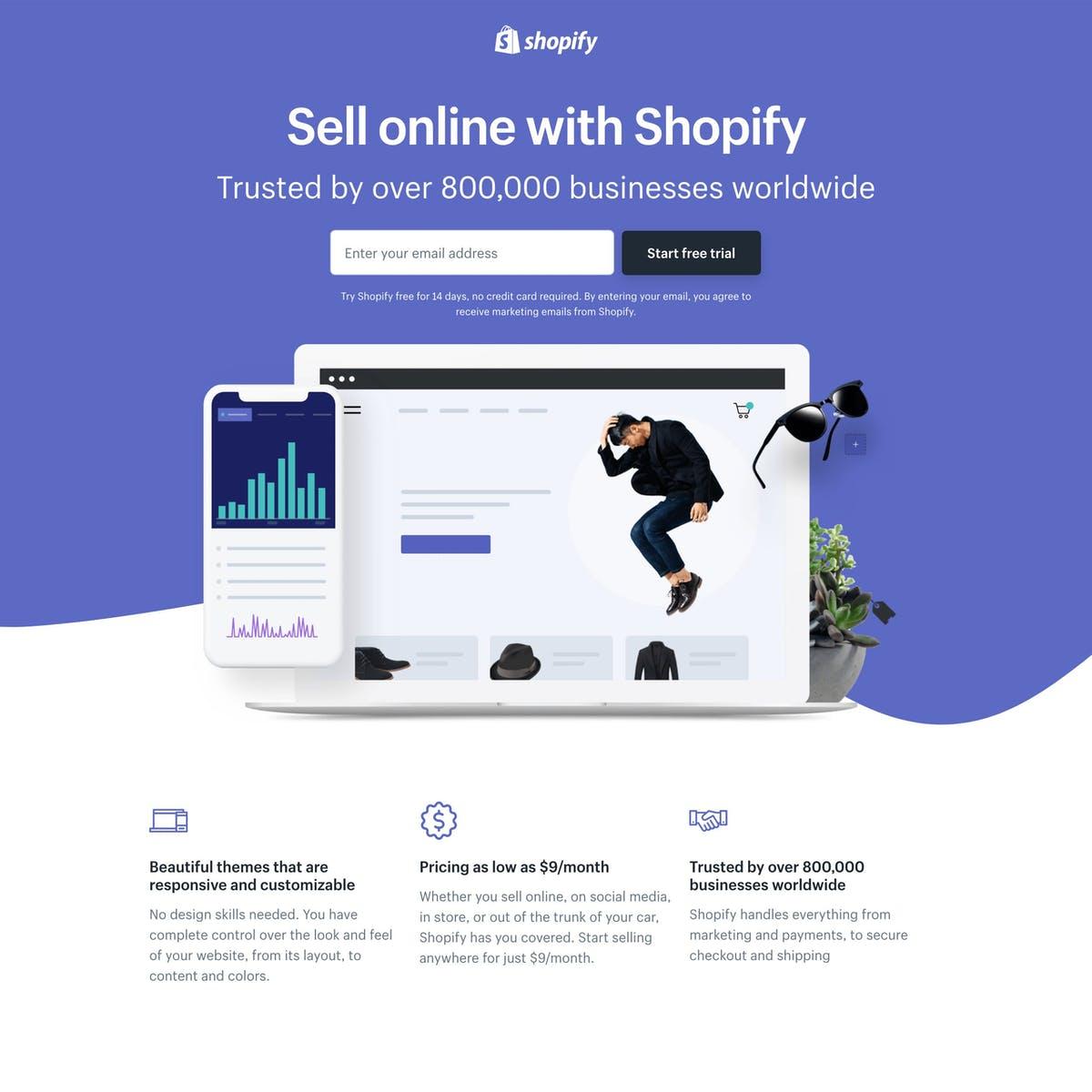 Shopify Free Trial   Search by Muzli