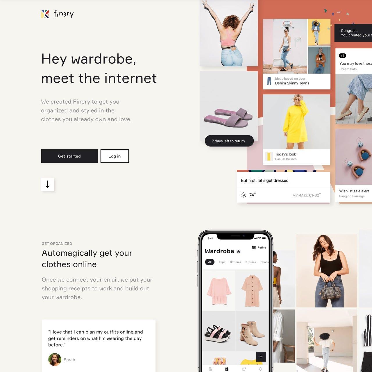 Finery Website Screenshot