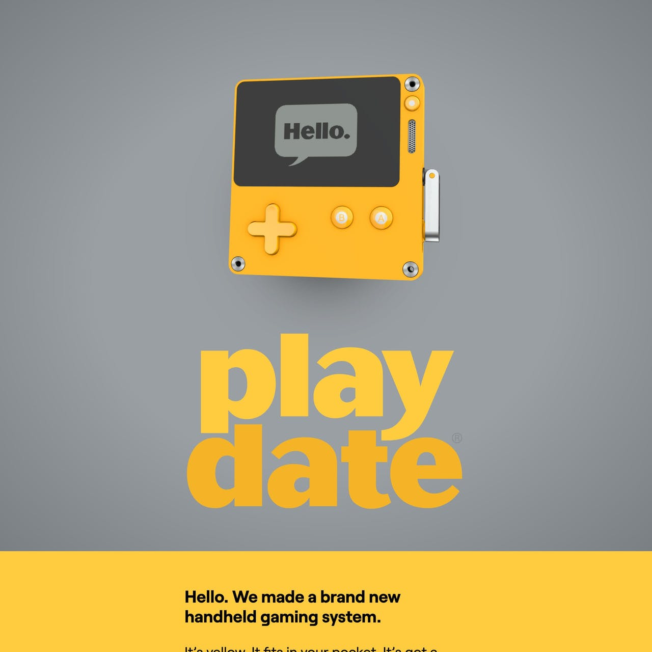 Playdate Website Screenshot