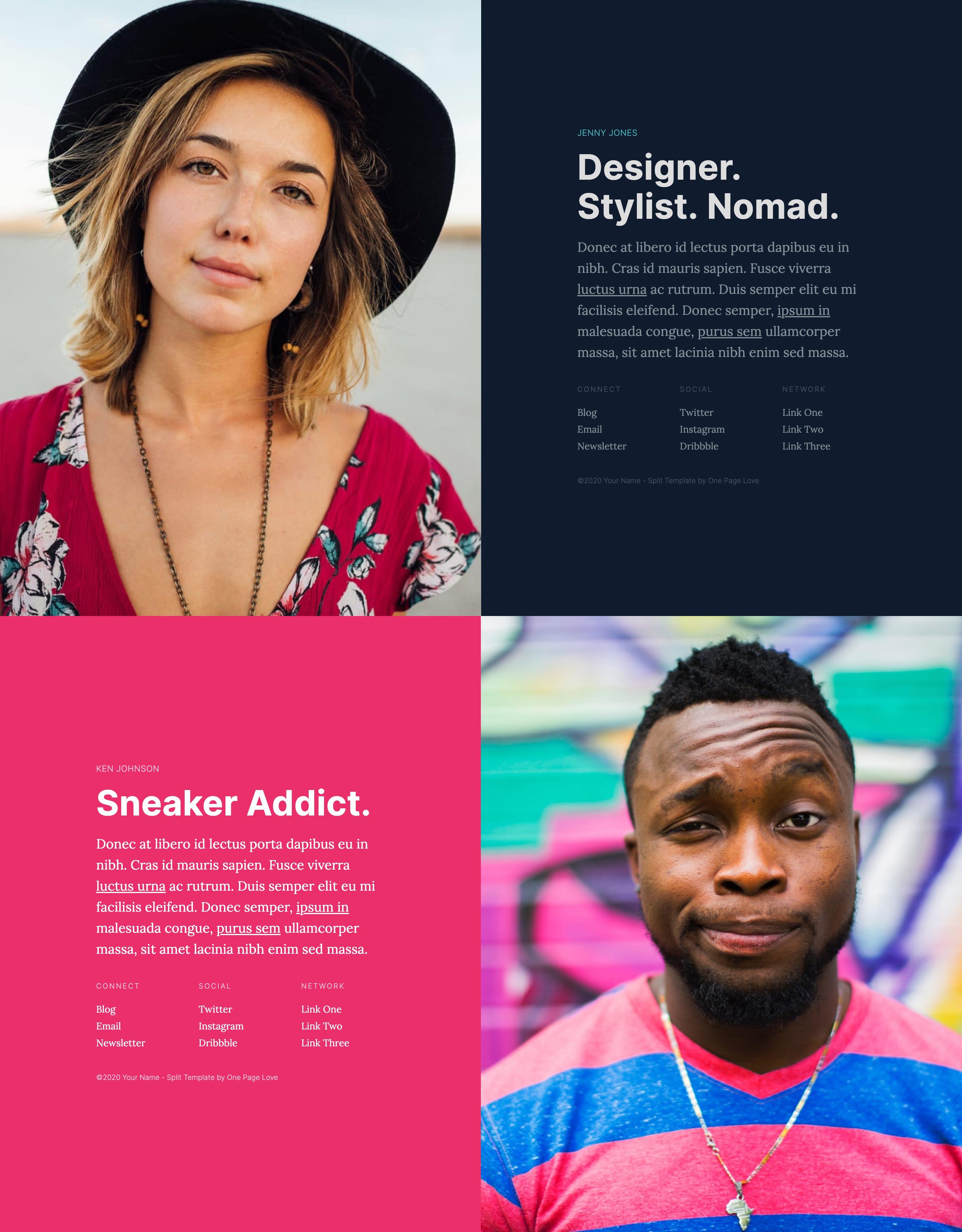 Split Website Screenshot