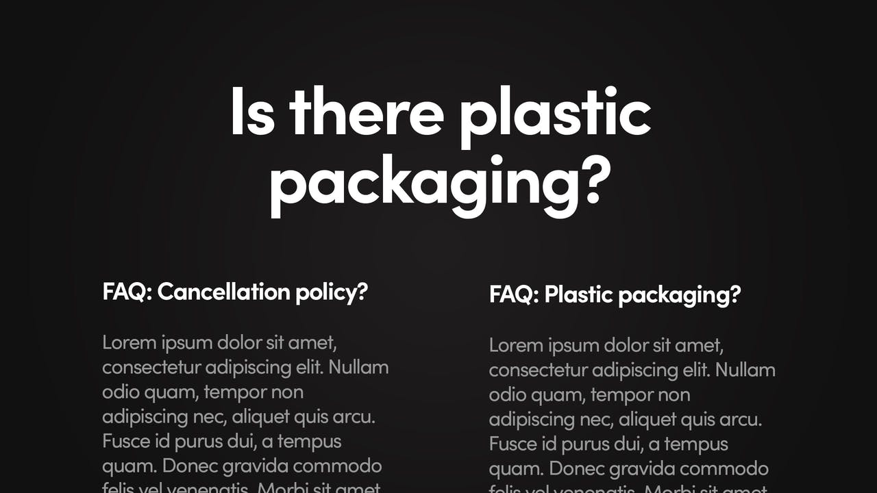 Landing Page FAQs Screenshot