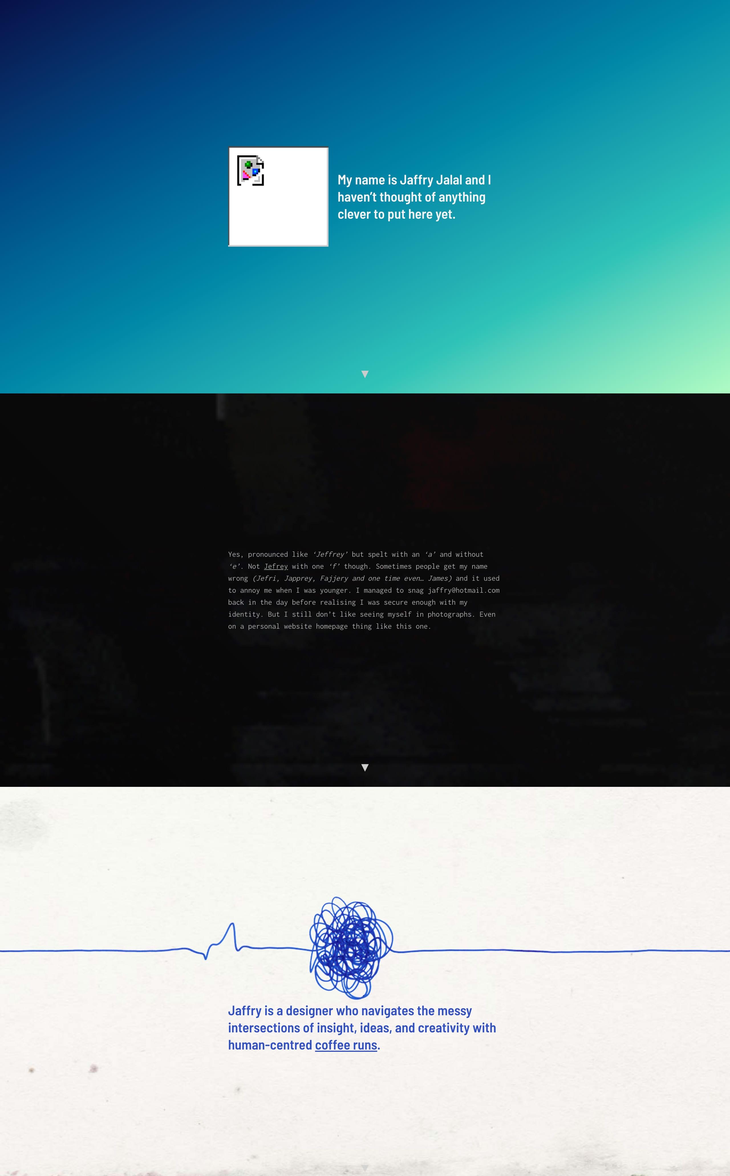 Jaffry Jalal Website Screenshot