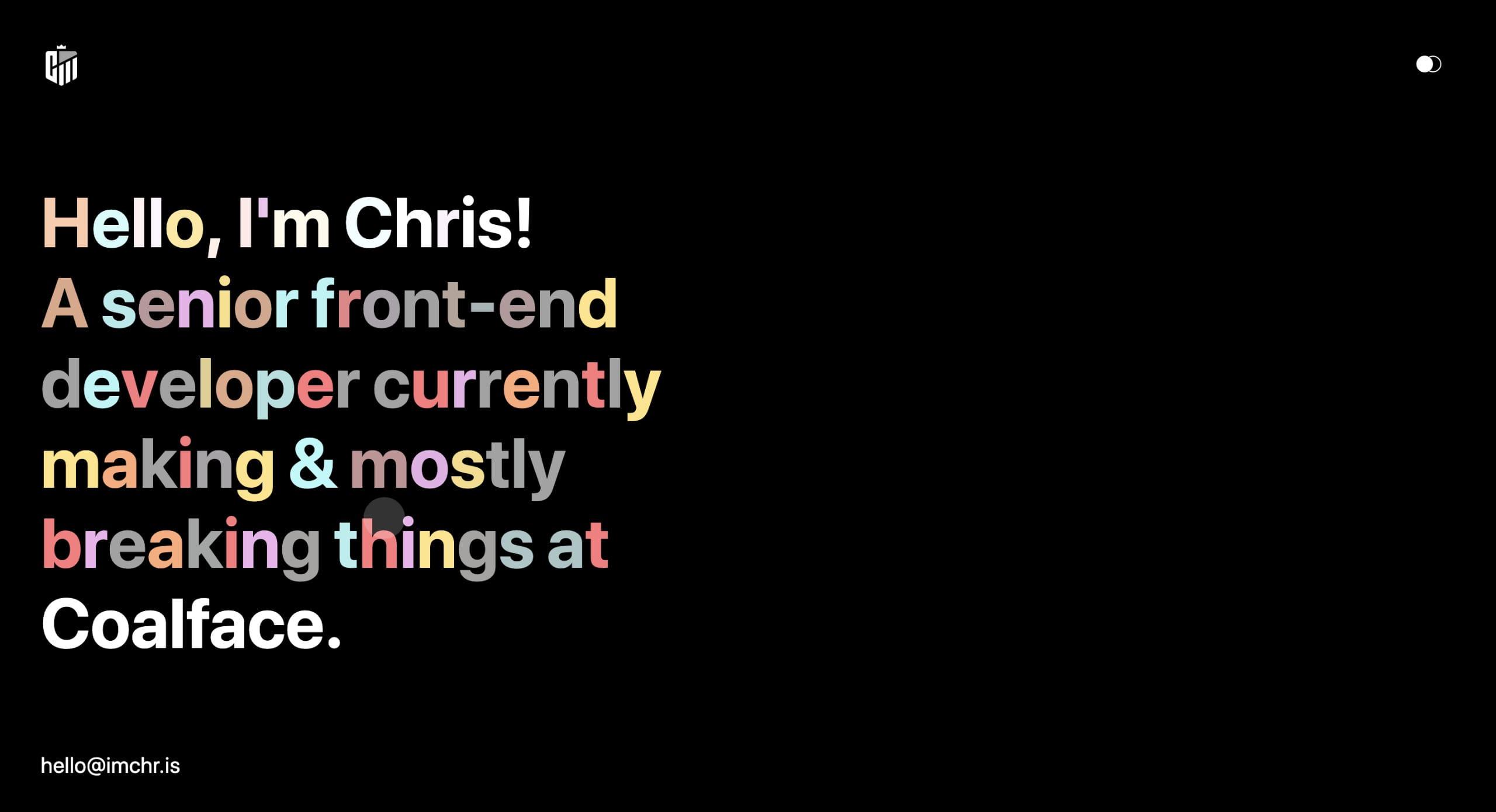 Chris Martin Website Screenshot