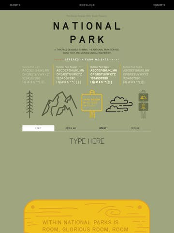 National Park Typeface Thumbnail Preview