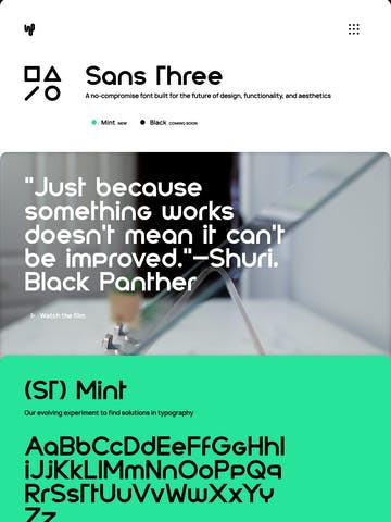 Sans Three Typeface Thumbnail Preview