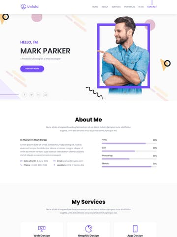 One Page HTML Templates