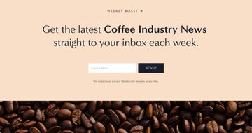 How to create a Newsletter Landing Page using Squarespace and build your list