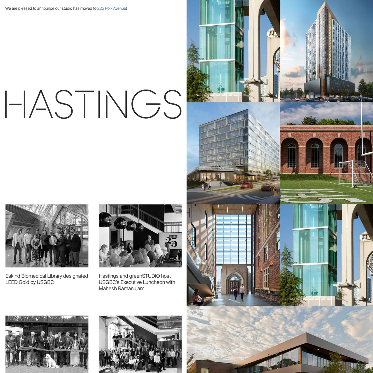 Hastings Architecture Website Screenshot