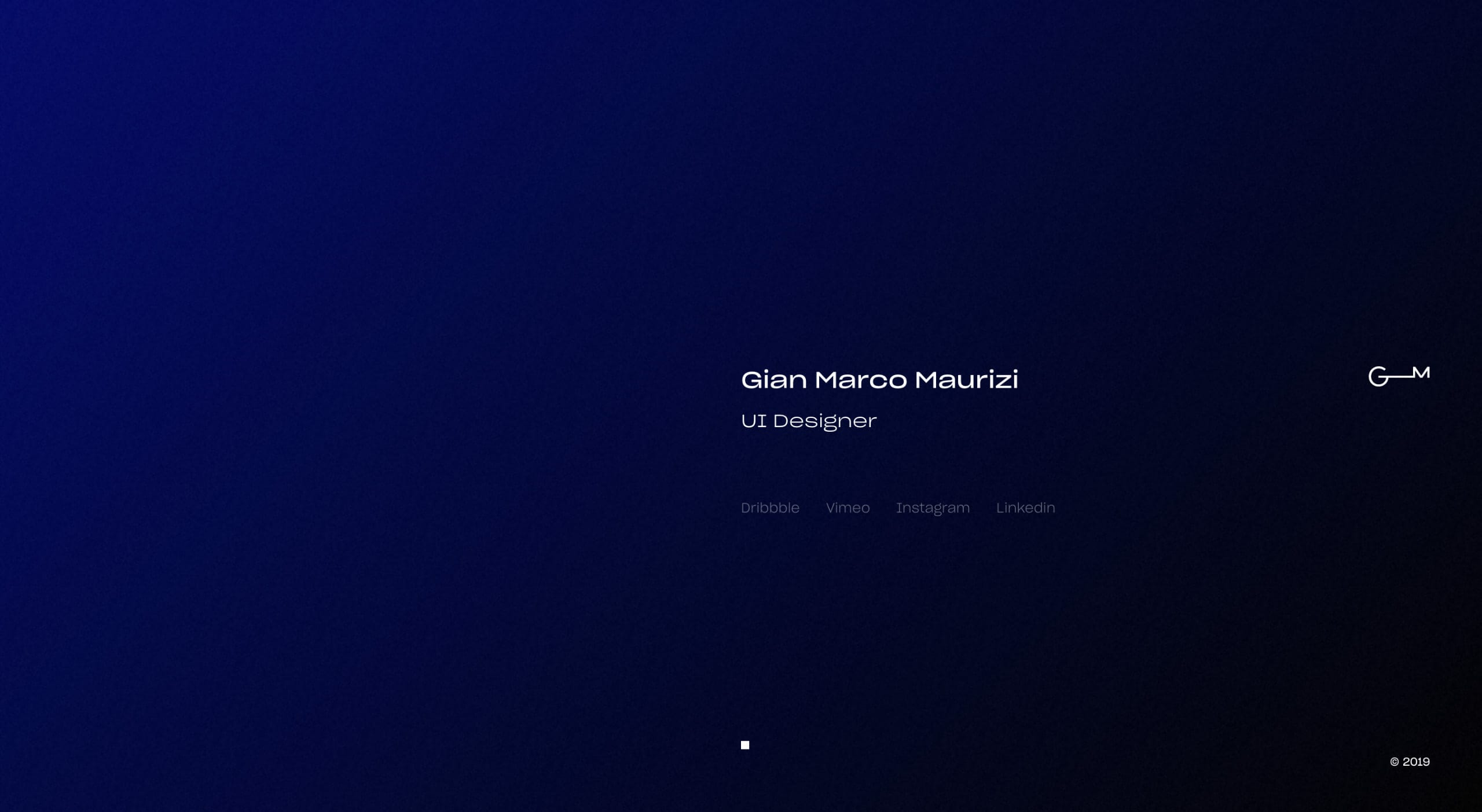Gian Marco Maurizi Website Screenshot