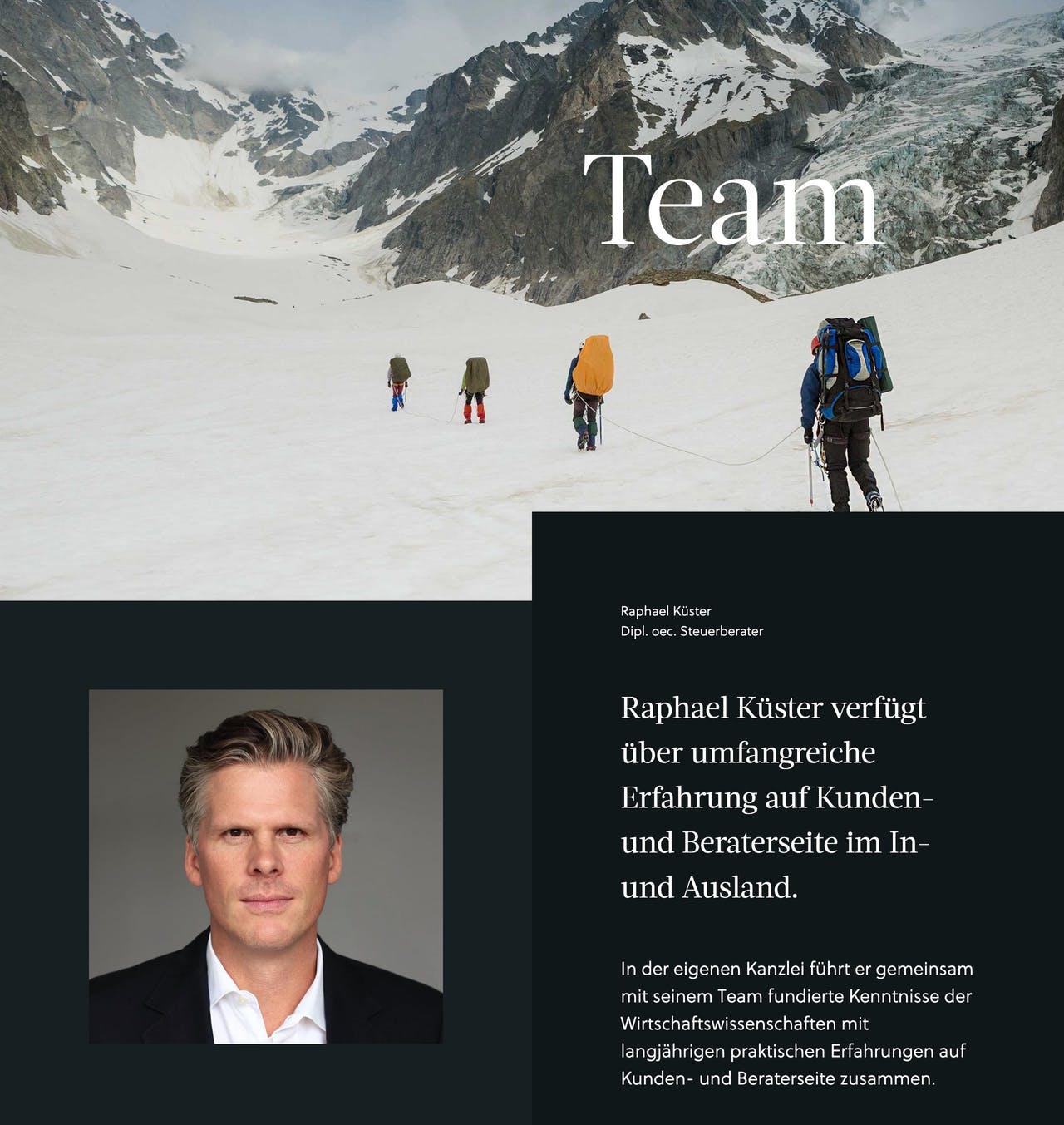 Team Section - Küster Steuerberatung Screenshot
