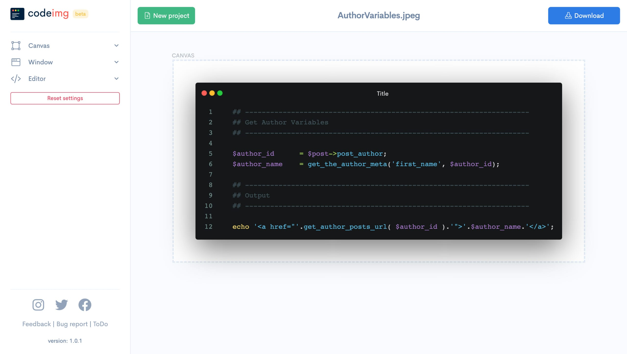 Codeimg.io Website Screenshot