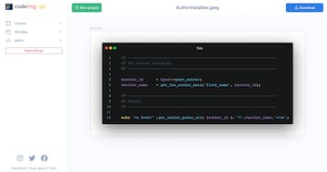 Codeimg.io Thumbnail Preview