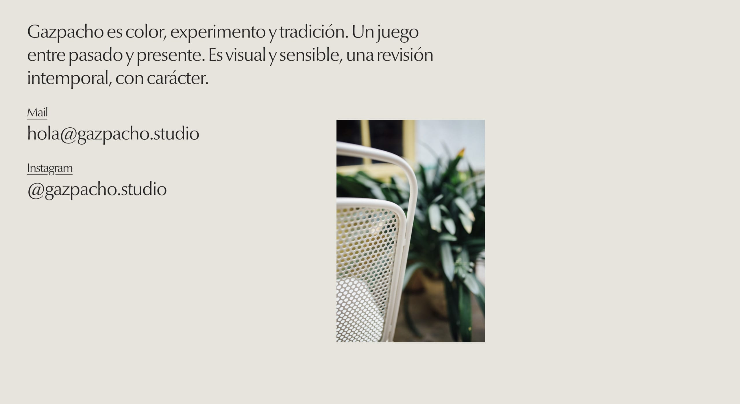 Gazpacho Website Screenshot