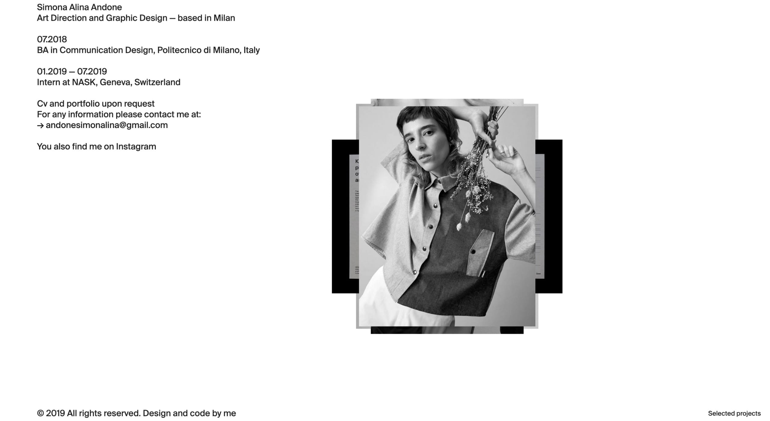 Simona Alina Andone Website Screenshot