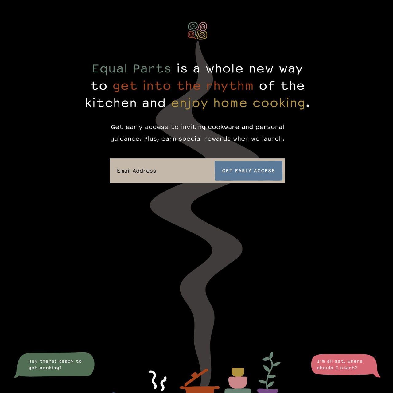 Equal Parts Website Screenshot