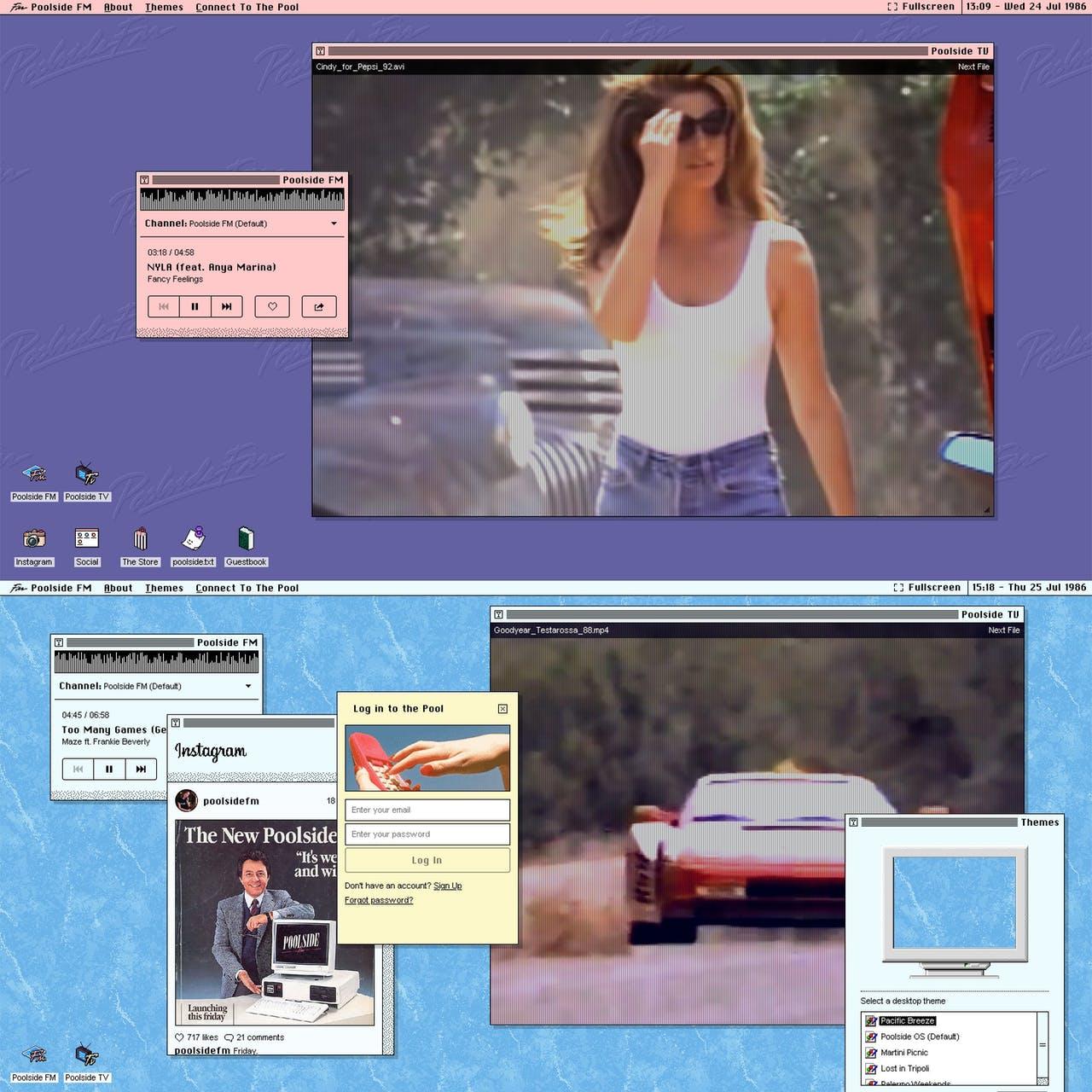 Poolside FM Website Screenshot