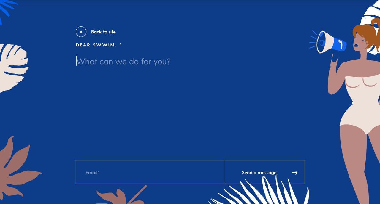 Contact Form - Swimm Screenshot