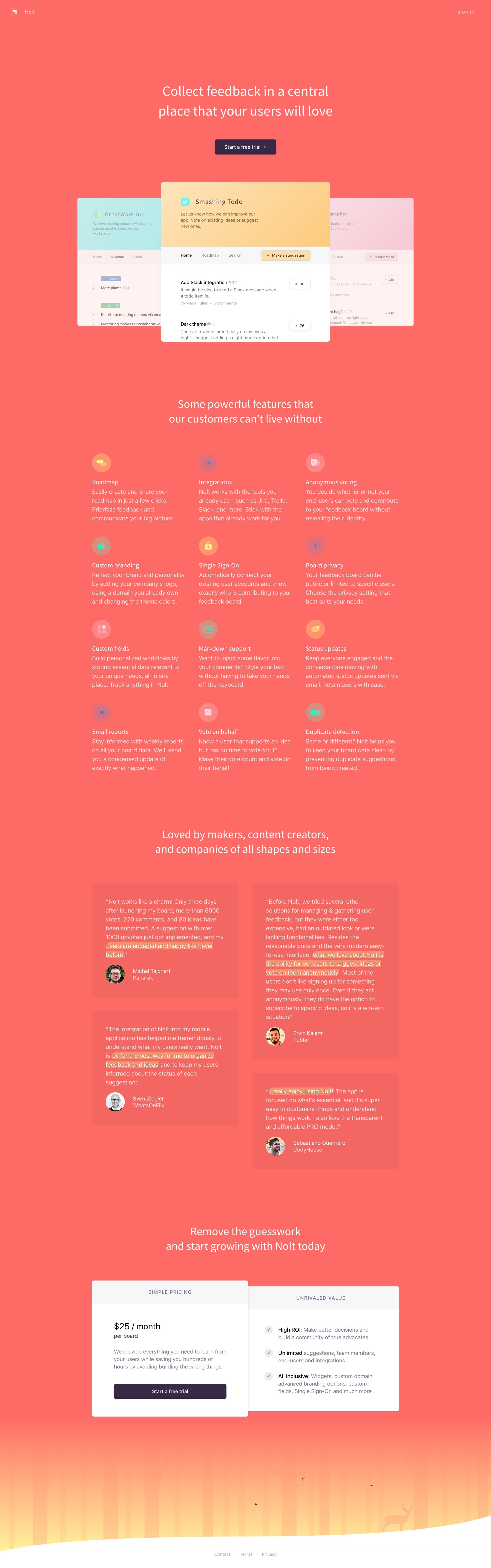 Nolt Website Screenshot