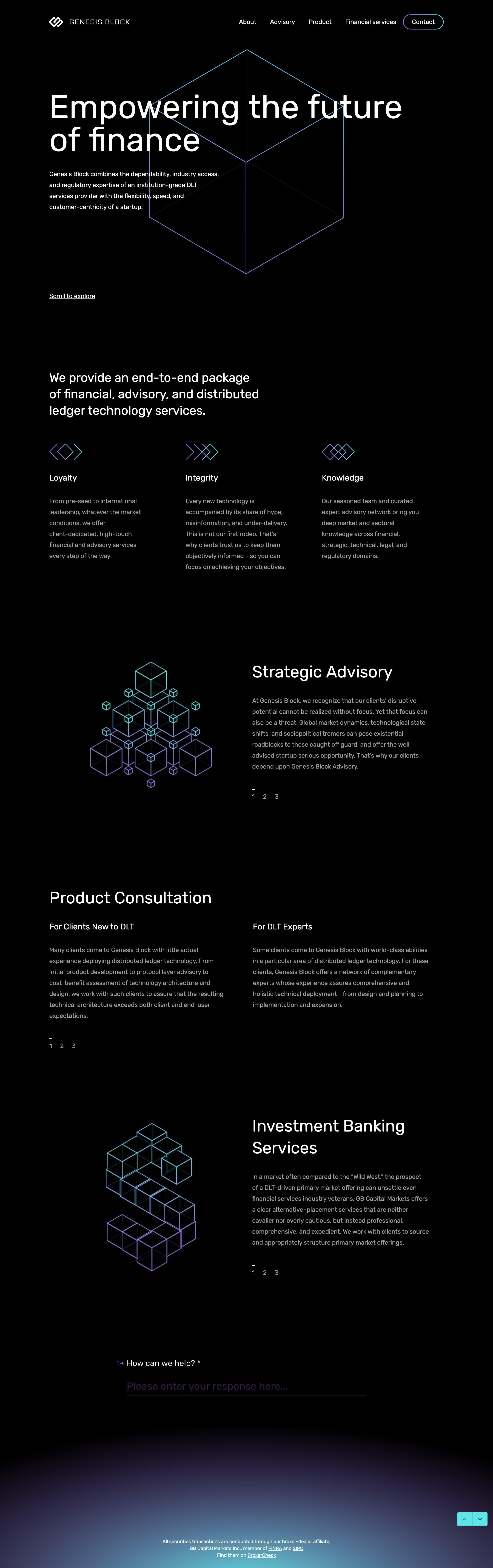 Genesis Block Website Screenshot