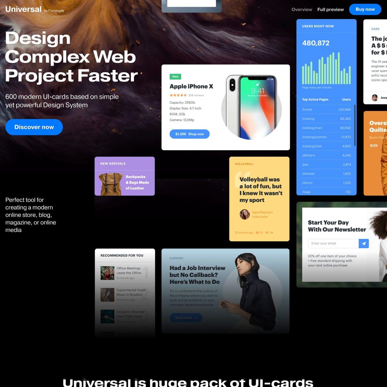 Universal UI Kit Website Screenshot