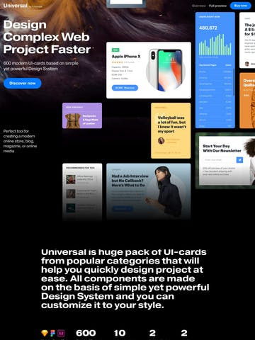 Universal UI Kit Thumbnail Preview