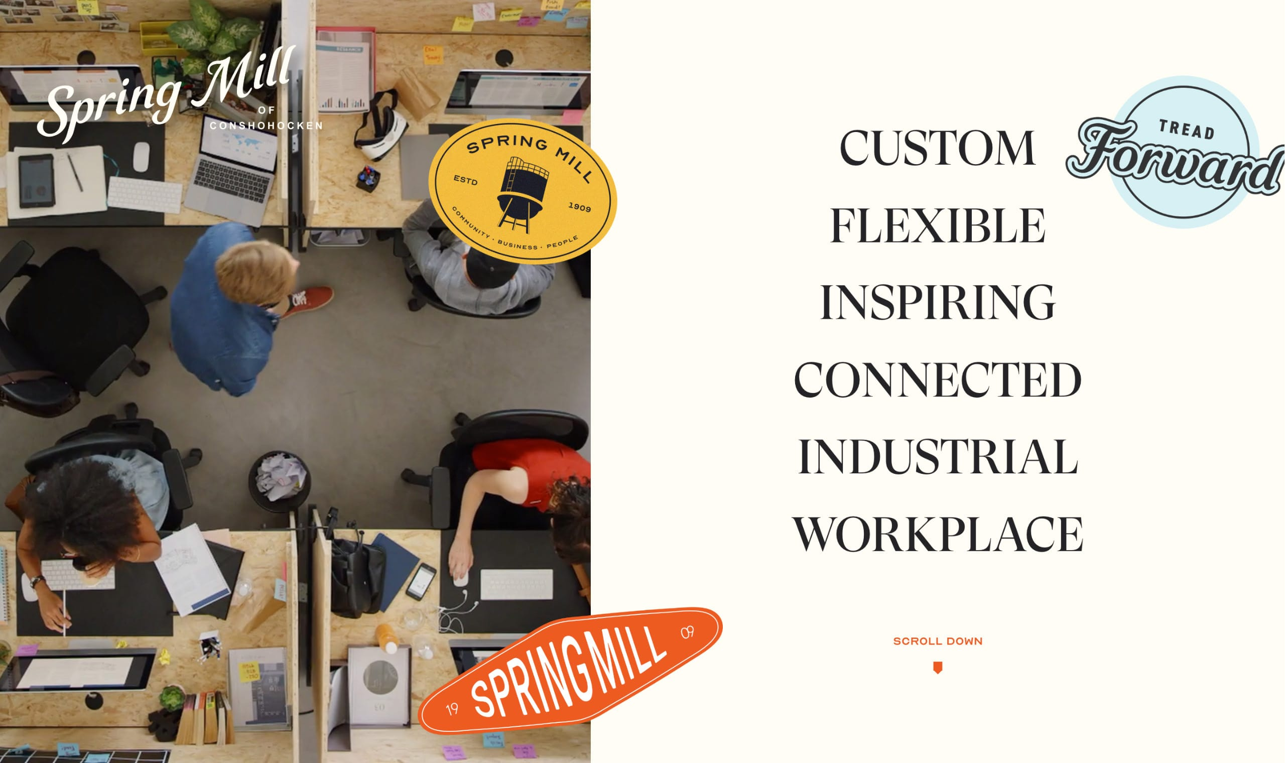 Spring Mill Creative Campus Website Screenshot