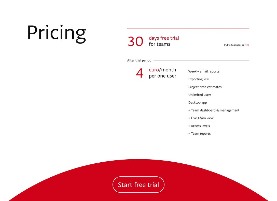 Pulse.red Pricing Table
