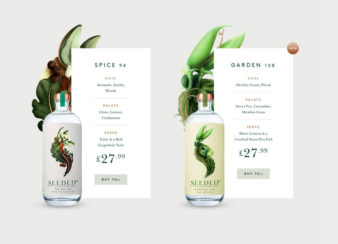 Seedlip Pricing Table