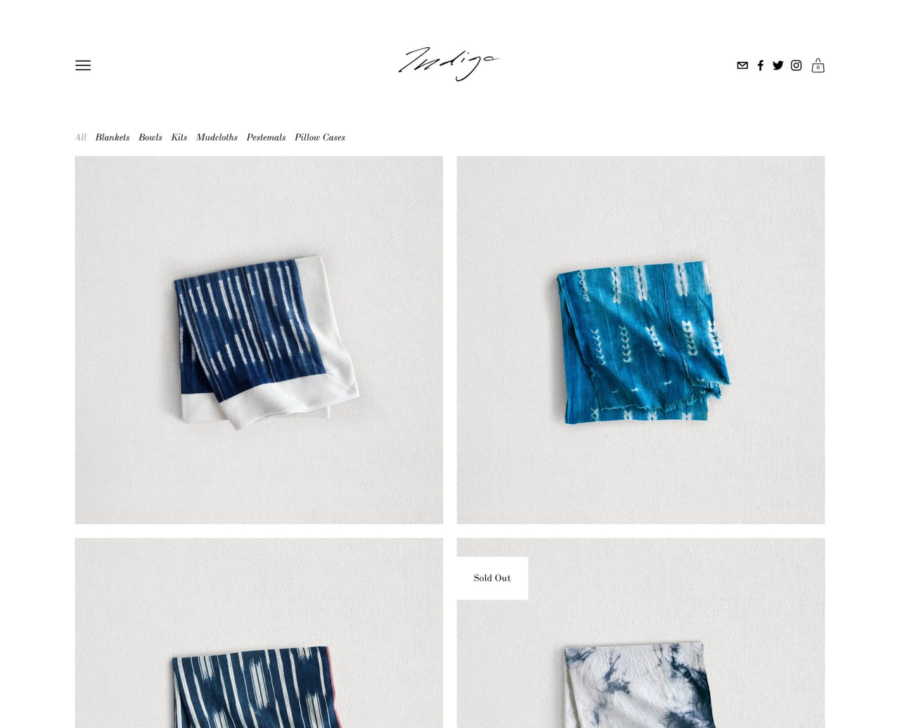 Squarespace Indigo Template - Home Page Screenshot